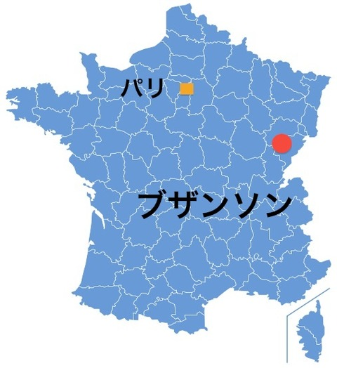 ブザンソン地図