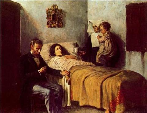 ピカソ「科学と慈愛」(1897年)
