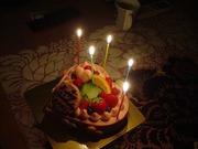 20110418少し遅れてバースデーケーキ
