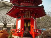 20110121四天王寺亀遊嶋辯才天
