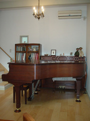 20110225カーサデミュのグランドピアノ