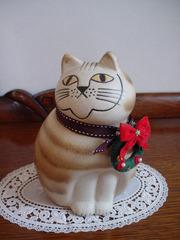20110225カーサデミュ猫の置物