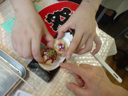 20110723大阪旅めがね食品サンプル作り3
