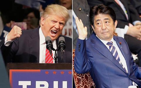 トランプ次期米大統領と安倍晋三総理