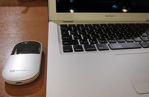 PocketWiFi with MacBook Air 2