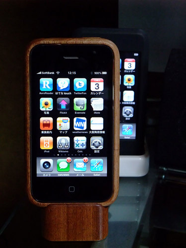 iPhone 3GS with iWood 1