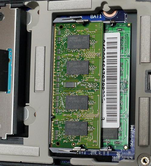 PC-NJ70A DIMMスロット(2DIMM 状態)