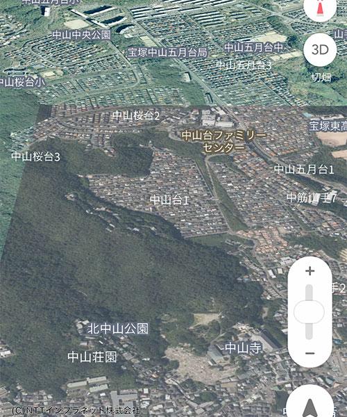 AppleMap21_Satelite3DYahooMap