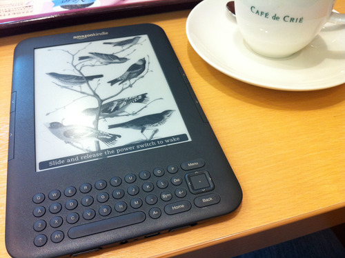 Kindle3 at Cafe 1
