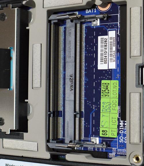 PC-NJ70A DIMMスロット(DIMM 除去状態2)