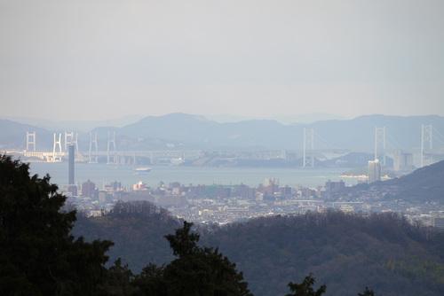 金比羅山本堂前から瀬戸大橋 by DMC-G1