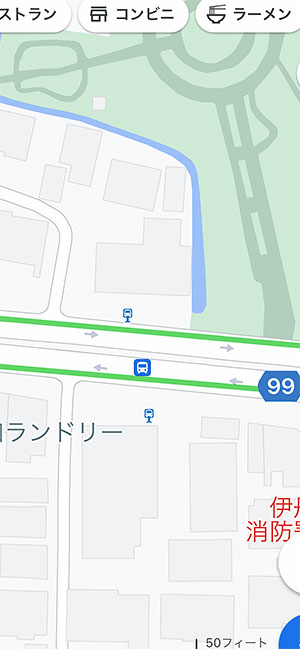 AppleMap12_BusStopGoogleMap
