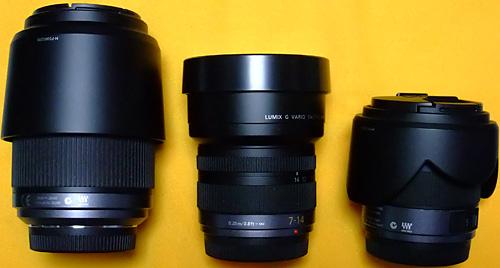 MicroFourThirds 14-45, 7-14, 45-200 (1)