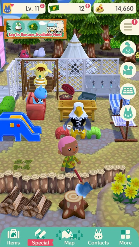【ポケ森】スマホ版どうぶつの森、ワイのキャンプ場wwwwwwwwwwwのサムネイル画像