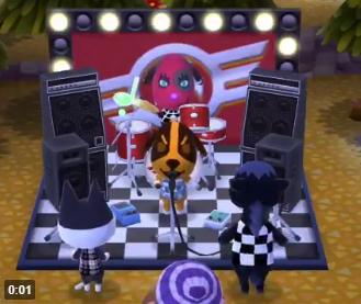 【ポケ森】オブジェ「ロックステージ」で歌ってる住民可愛すぎワロタwwwwwwのサムネイル画像