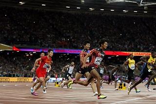 日本銅メダル世界陸上400mリレー