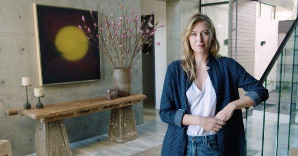 シャラポワ日本風の自宅を公開vogue