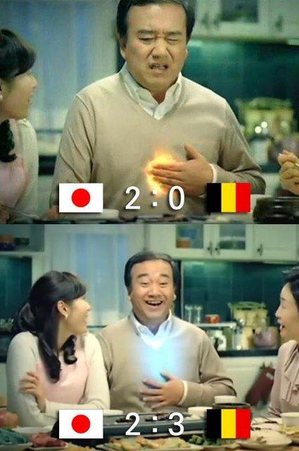 日本ベルギー韓国の反応