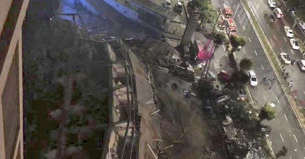 新型コロナ中国ホテル倒壊