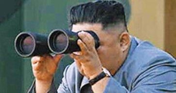 双眼鏡キムジョンウン