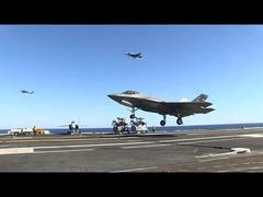 F-35C空母ニミッツ着艦