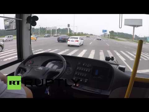自動運転バス中国
