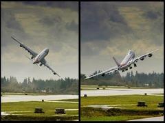 B747ジャンボジェットの離陸