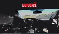 新型シビック タイプR、ニュルFF最速の7分50秒63