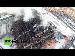 ロシア図書館ドローン火災