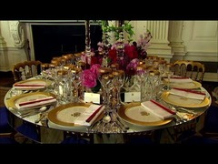 安倍オバマ食器ホワイトハウス