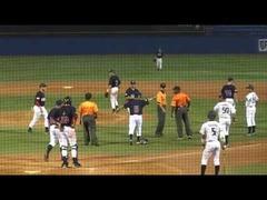 日米大学野球乱闘