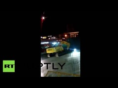 掘削機転落チリ地下鉄