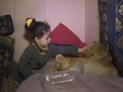 アイドル子供ライオン
