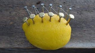 火をおこすレモン電池