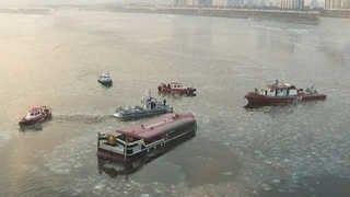 水漏れ漢江遊覧船浸水