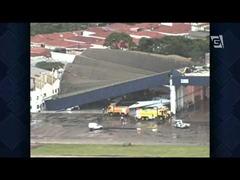 崩落コンゴニャス国際空港