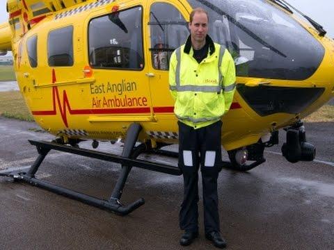 救急ヘリ操縦ウィリアム王子
