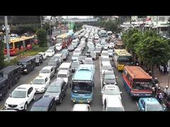 日本車ジャカルタ渋滞