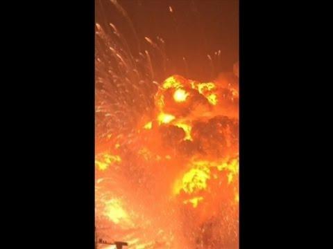 天津爆発の瞬間