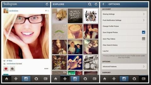 tampilan instagram terbaru