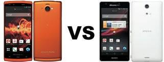 AQUOS PHONE si SH-07EとXperia A SO-04Eの比較