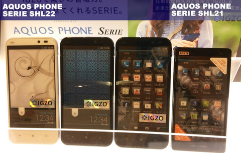 AQUOS PHONE SERIE SHL21とSHL22