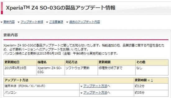 Xperia Z4 動画再生時の不具合を改修