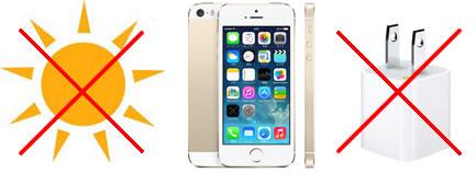 iPhone5s&5cの「充電中の使用」や「高温での充電」による電池劣化