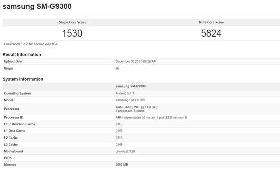 Benchmark Galaxy S7 SM-G9300