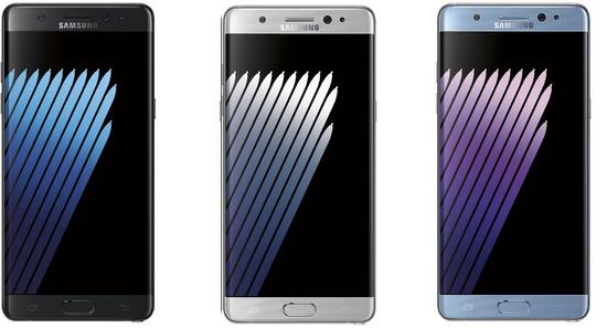 Galaxy Note7 SC-01Jのデザイン
