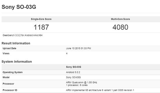 Xperia Z4 SO-03Gのベンチマーク結果