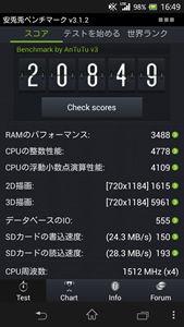 Xperia A SO-04Eのベンチマーク結果