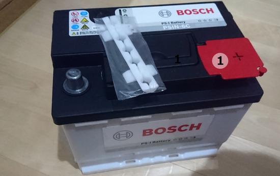 ①ワーゲン・ポロ(GH-9NBBY) バッテリー交換