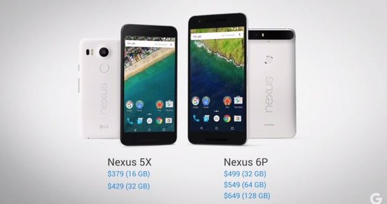 NEXUS 5Xの主なスペック比較&価格情報